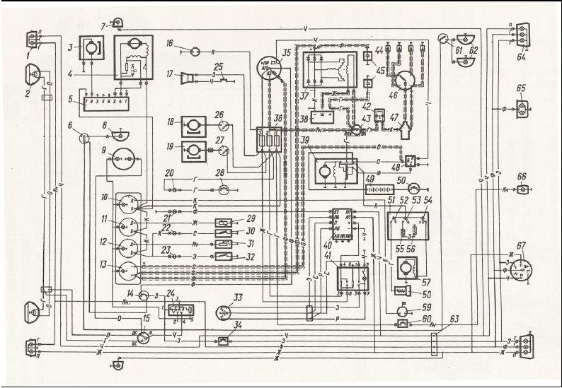 ...3 - электродвигатель смывателя; 4 - электродвигатель стеклоочистителя; 5 - переключатель стеклоочистителя и...